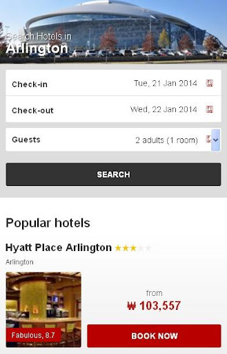 Arlington Hotel Map