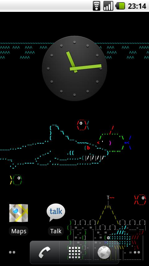 Asciiquarium Live Wallpaper- screenshot