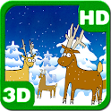 Happy Christmas Winter Forest icon