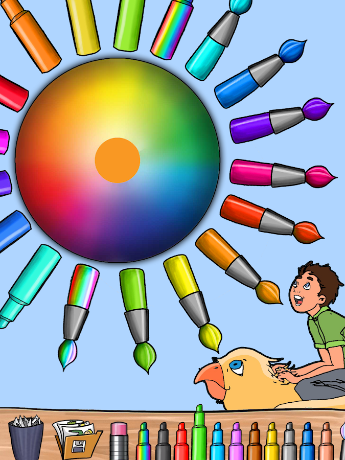 coloring book paint draw kids screenshot - Kids Paint Book