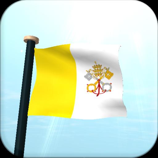 バチカン市国フラグ3D無料ライブ壁紙 個人化 LOGO-玩APPs