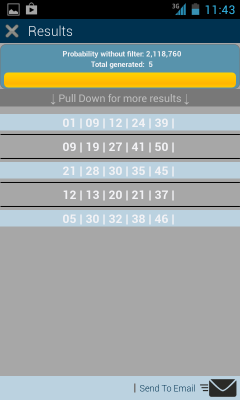 Universal Lotto Generator- screenshot