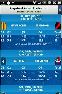 AFL Live Scores - screenshot thumbnail