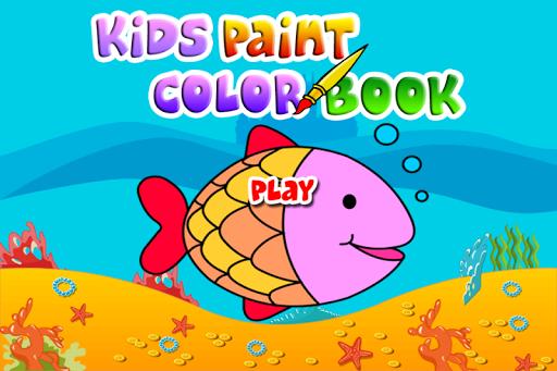 Kids Paint Color Book
