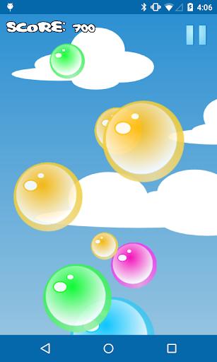 気泡をポップ
