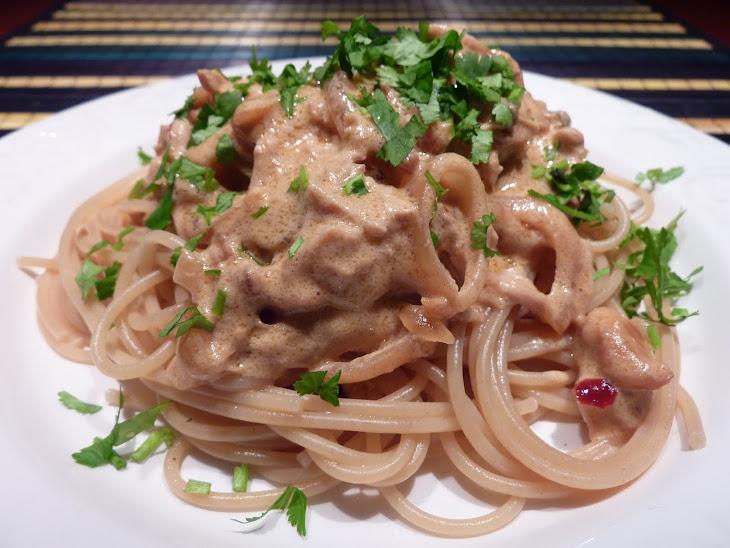 Roast Chicken and Mushroom Spaghetti Recipe