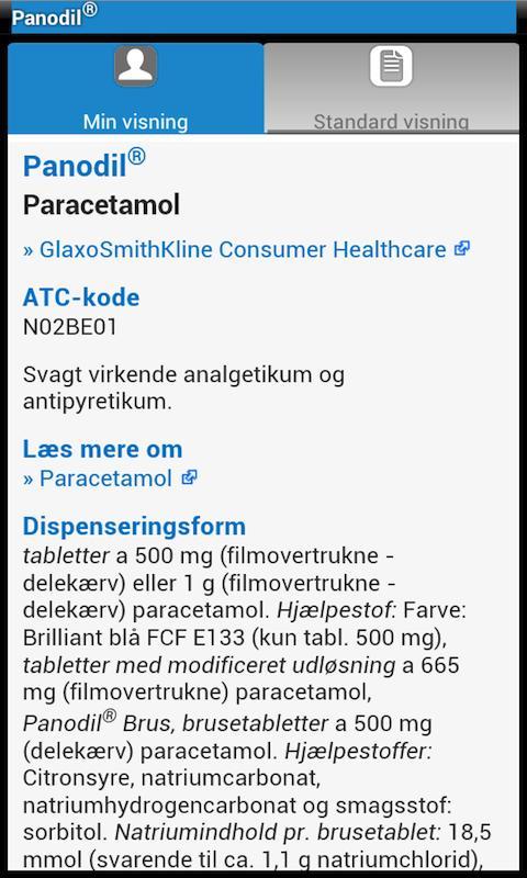 pro.medicin.dk- screenshot