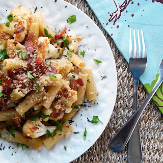 Pasta with Cauliflower, Bacon and Breadcrumbs for Two