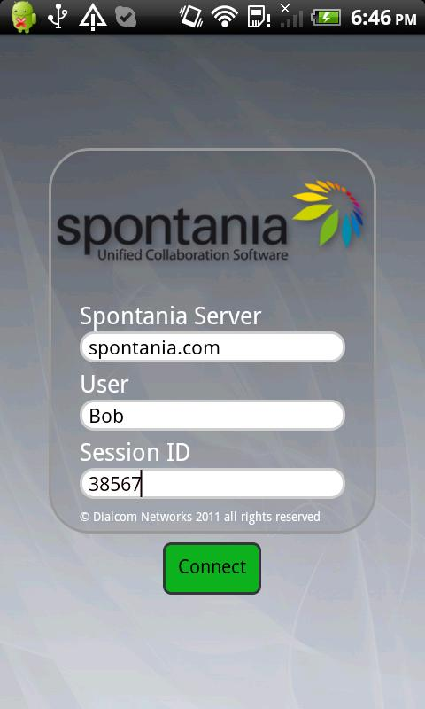 Spontania Mobile - screenshot