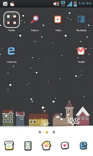 snowy day go launcher theme