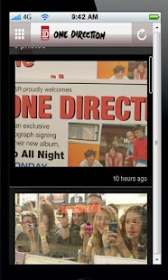 One Direction Fan app - screenshot thumbnail