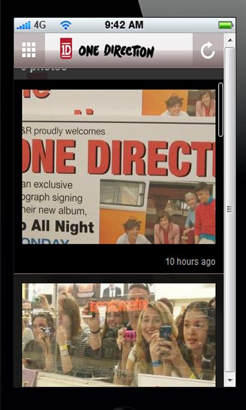 One Direction Fan app - screenshot