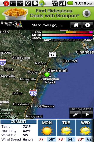 WSAV Weather - screenshot