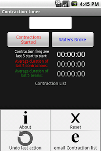 Pregnancy Contraction Timer - screenshot thumbnail