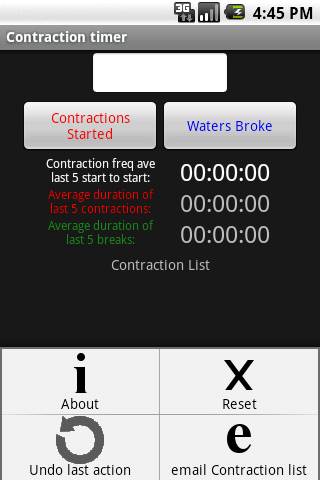 Pregnancy Contraction Timer- screenshot