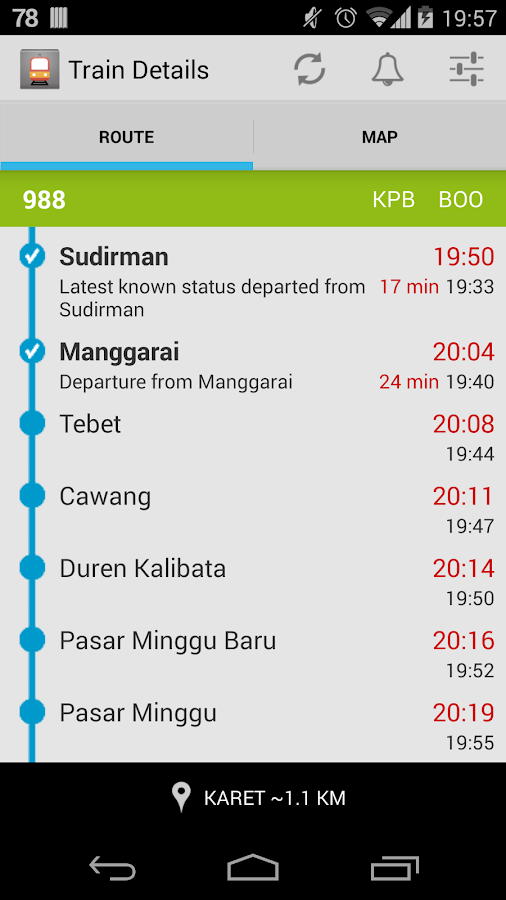 Info KRL - screenshot