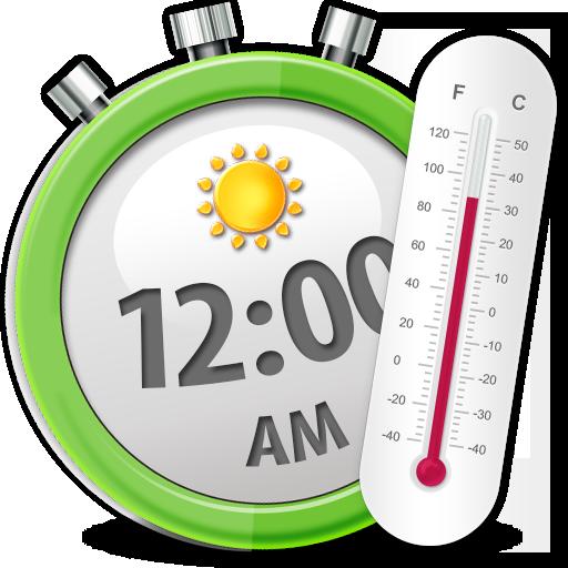 天气の温度 時計ウィジェット LOGO-記事Game