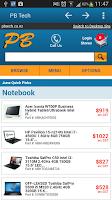 Screenshot of PB Tech