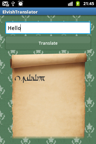 Elvish Translator - screenshot