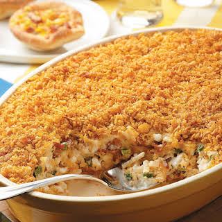 Bacon-Scallion Hash Brown Casserole.