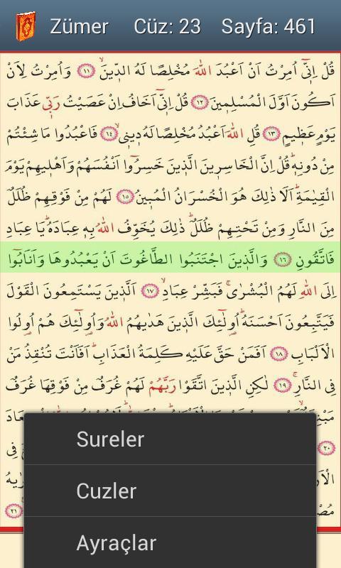 Kolay Hatlı Kuran-ı Kerim - screenshot
