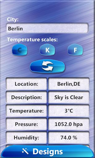 Phone Clock Weather Widget