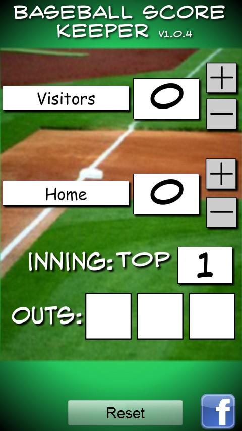 Baseball/Softball Score Keeper- screenshot