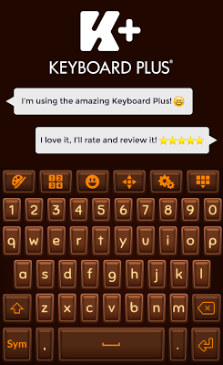 Chocolate Keyboard Theme - screenshot