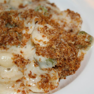 Mac and Cheese with Okra and Grits