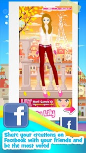 Lily Dress Up Fashion Paris - screenshot thumbnail