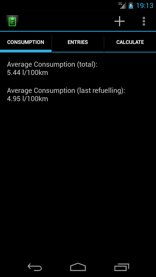 FuelConsumption - screenshot