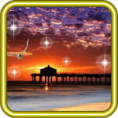 Sunset Sea Beach HD LWP