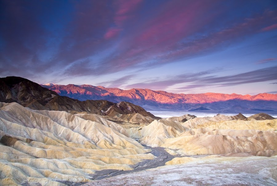 Zabriskie Point by Gale Perry - Landscapes Deserts ( , the mood factory, mood, lighting, sassy, pink, colored, colorful, scenic, artificial, lights, scents, senses, hot pink, confident, fun, mood factory  )