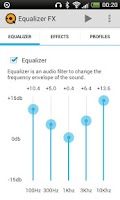 Screenshot of Equalizer FX (Free)