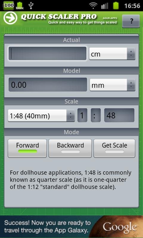 Hobby Model Scaler - screenshot