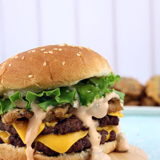Fried Pickle Double Cheeseburgers with Big Mac Sauce