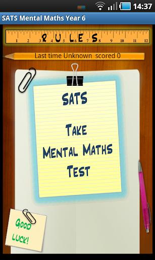 SATS Mental Maths lite