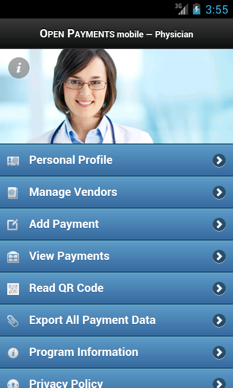 Open Payments for Physicians - screenshot