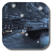 Hand-painted winter town LWP
