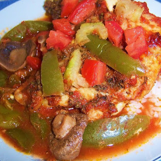 Crockpot Italian Chicken Caccatorie with Rice or Pasta