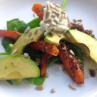 Cumin Roasted Carrot & Avocado Salad