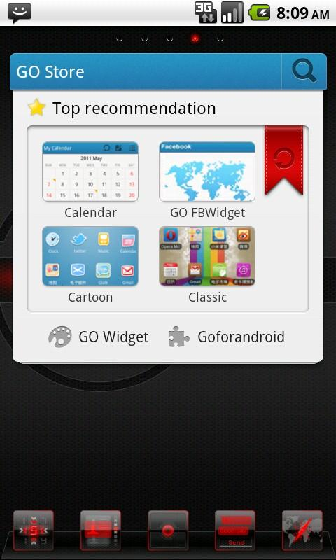 Renix Theme GO Launcher EX - screenshot