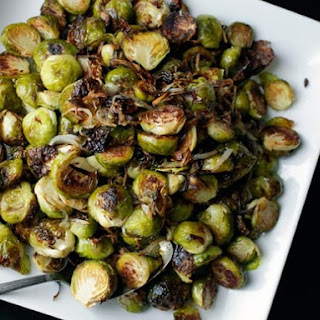 Roasted Brussels Sprouts and Shallots with Balsamic Vinegar