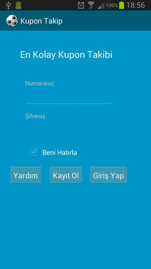 Kupon Takip (iddaa) - screenshot