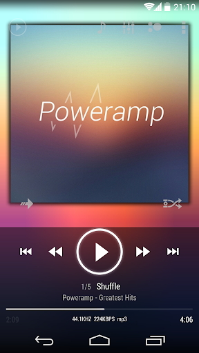 Poweramp skin KK ICS JB White