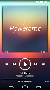 Poweramp skin KitKat ICS White