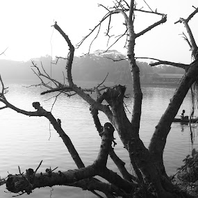 Lake by Soumen Mitra - Black & White Landscapes (  )