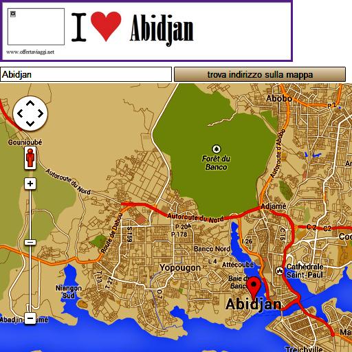 Abidjan map