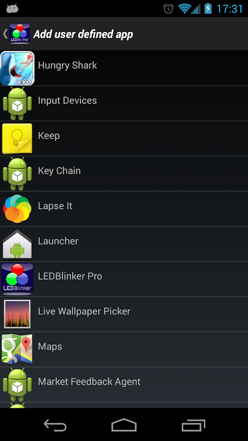 LEDBlinker Notifications Lite - screenshot