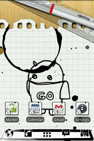 Notebook GO Launcher Theme - screenshot